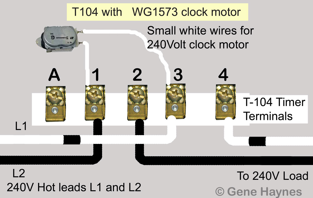 T 104 control 240V Load4 35 pool timer wiring diagram diagram wiring diagrams for diy car Intermatic T104 Timer Manual at crackthecode.co
