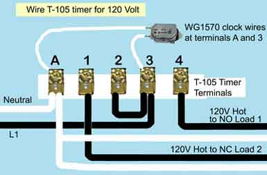 Wire Intermatic T105 timer