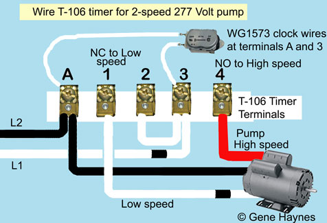 how to wire t106 timert 106 timer 277 volts