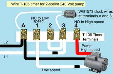 how to wire hayward 2 speed pump rh waterheatertimer org pool pump timer wiring diagram pool pump timer wiring instructions
