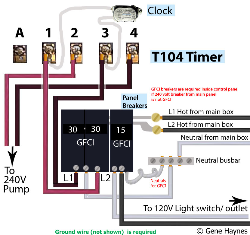 how to wire intermatic t104 and t103 and t101 timers larger image