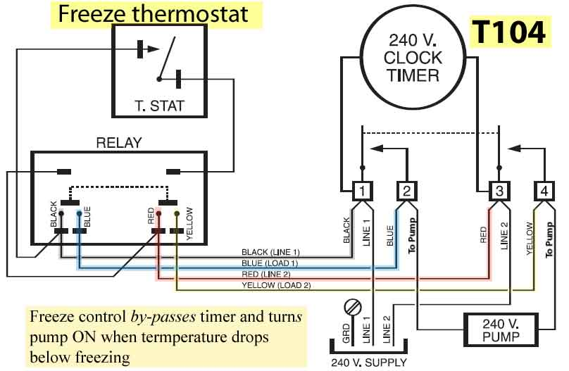 intermatic ze controls and parts ze control by pass timer and turns pump on when temperature drops below zing resources how to wire t104