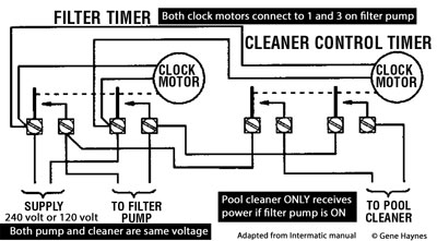 how to wire intermatic t104 and t103 and t101 timers rh waterheatertimer org Pool Pump Motor Wiring Diagram 220V Pool Pump Wiring Diagram