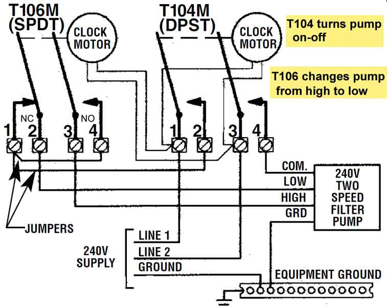T106 T104 600 how to wire t106 timer pool pump timer wiring diagram at eliteediting.co