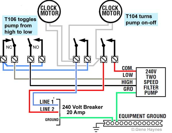 how to wire 2 speed pump rh waterheatertimer org century two speed pool pump wiring diagram 2 speed pool pump wiring diagrams