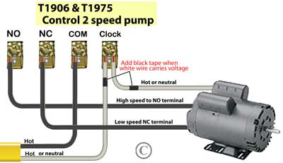 T1906 timer controls 2-speed pump