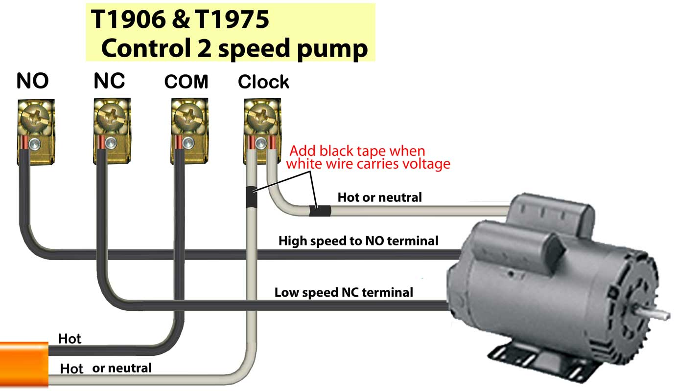 T1906 240V 2 speed pump how to wire intermatic t1905 t1975 series timers pool timer wiring diagram at love-stories.co