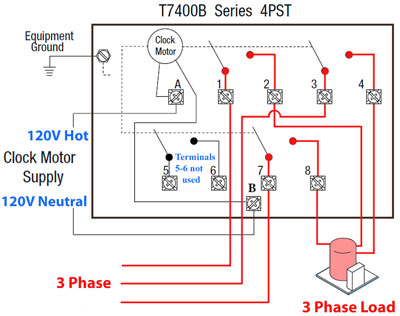 how to install 3 phase timer t7041b wiring for 3 phase