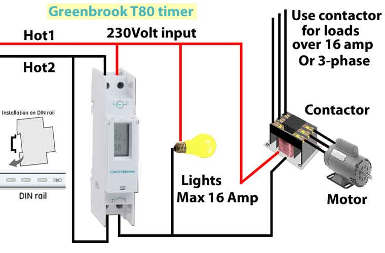 Greenbrook T80 timer wiring