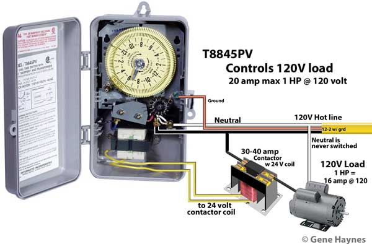 T8845 controls 120V load