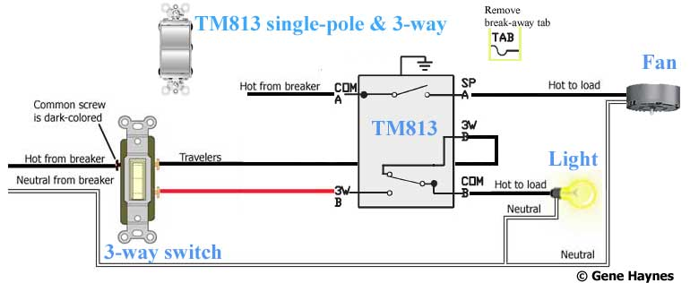 TM813 700 how to wire switches Bathroom Fan Light Switch Wiring Diagram at mifinder.co