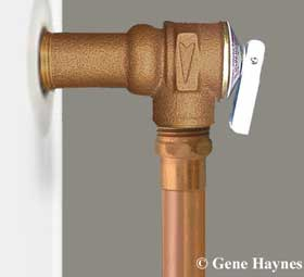 TP valve Discharge pipe Code