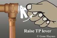 Raise TP lever