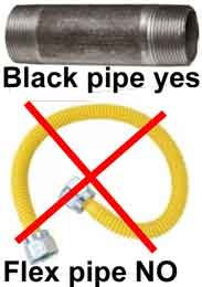 Tankless gas pipe