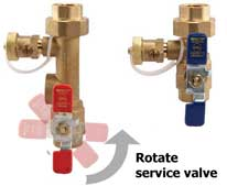 tankless service valve