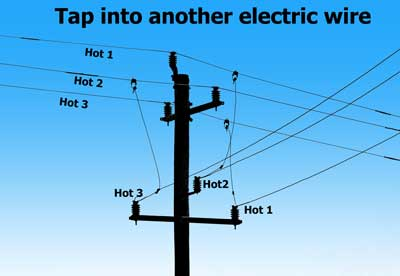 Tap into electric wire
