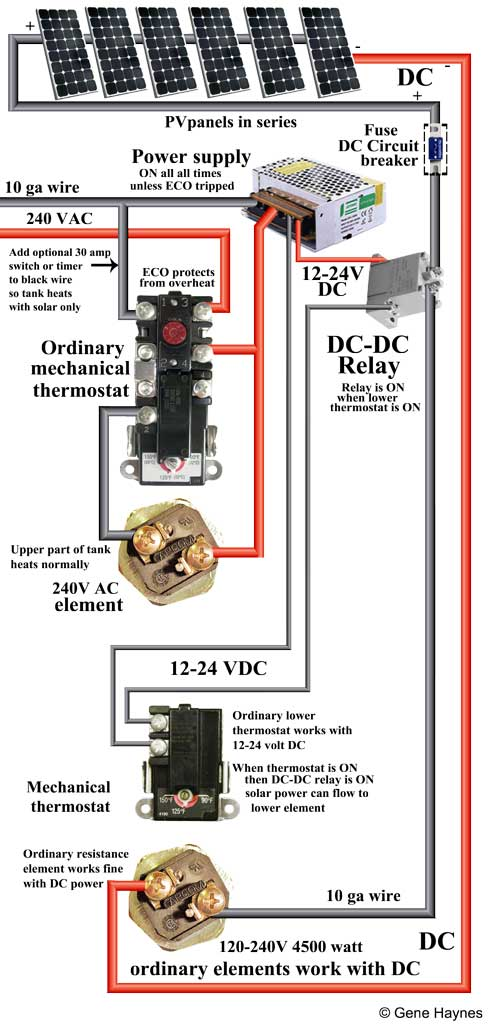 this wiring diagram does not by-pass water heater safety features: (eco  thermal cut off located on upper element, 600 volt wire insulation,