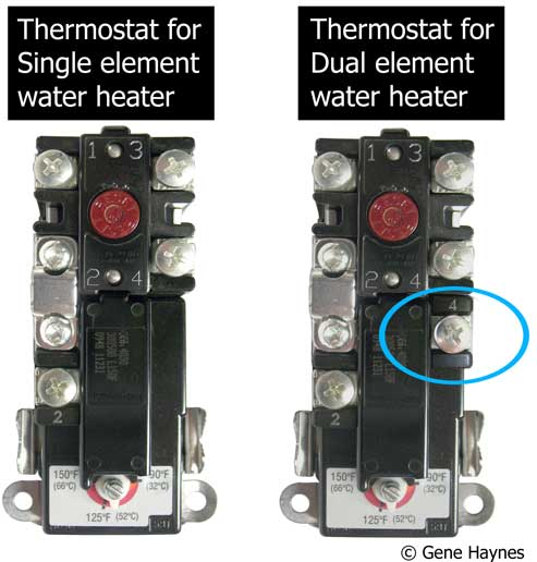 How to select and replace thermostat on electric water heater single element dual element larger image ccuart Image collections