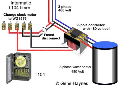 Timer for 480 3 phase load 3 pole contactors 3 phase contactor wiring diagram at gsmportal.co