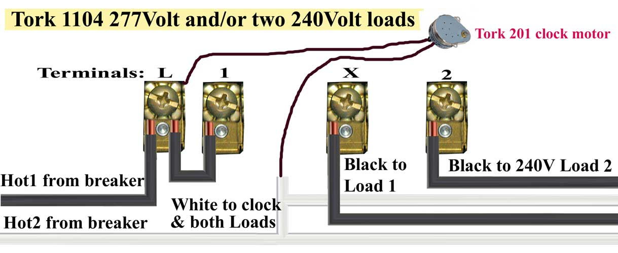 Tork Time Clock Wiring Diagram from waterheatertimer.org