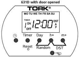 Tork 631D timer