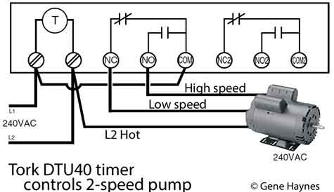how to wire tork dtu40 timer tork dtu40 controls 2 speed pool pump always check pump voltage and wiring diagram