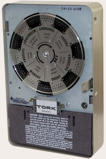 Tork timers and manuals: on