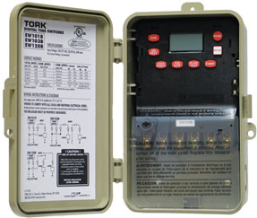 Tork water heater timer