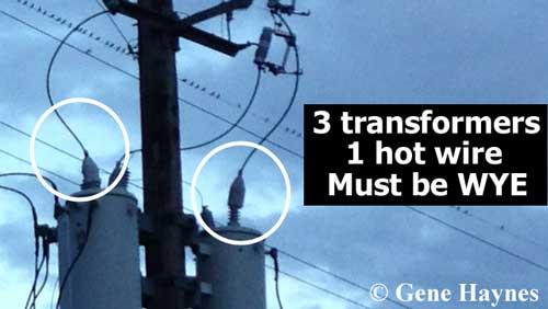 Transmission distribution wye how to identify transformer wiring
