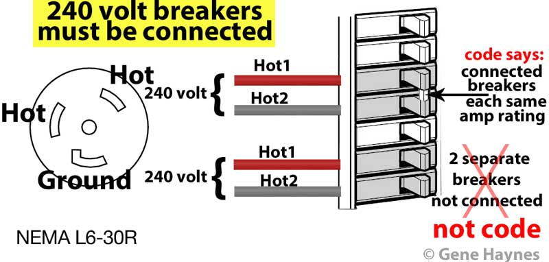240 volt breakers