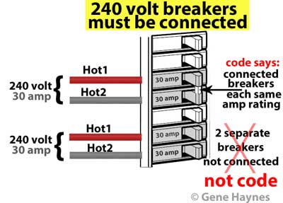 are both sides of the breaker 30 amp or one each one of them