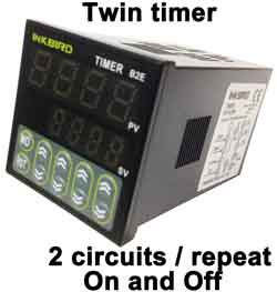 countdown timer horsepower ratings twin timer