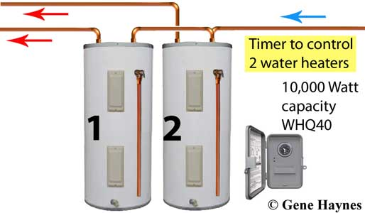 Timer for two water heaters