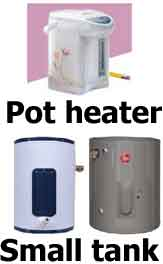 Under counter water heater