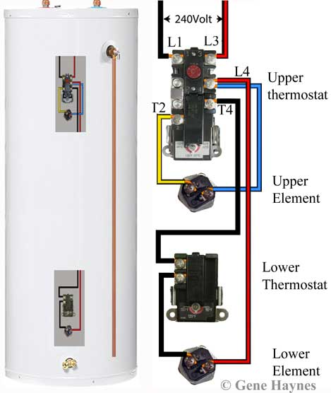 Electric Heater Wiring Diagram from waterheatertimer.org