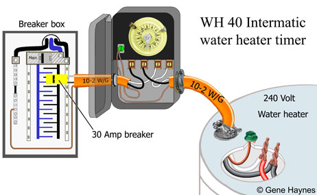 WH40 water heater circuit 2 how to wire wh40 water heater timer intermatic wh40 wiring diagram at mifinder.co