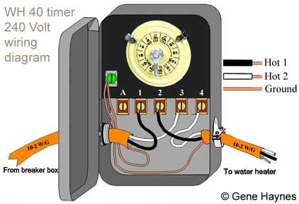 how to wire wh40 water heater timer:,Wiring diagram,Wiring Diagram For Intermatic Timer