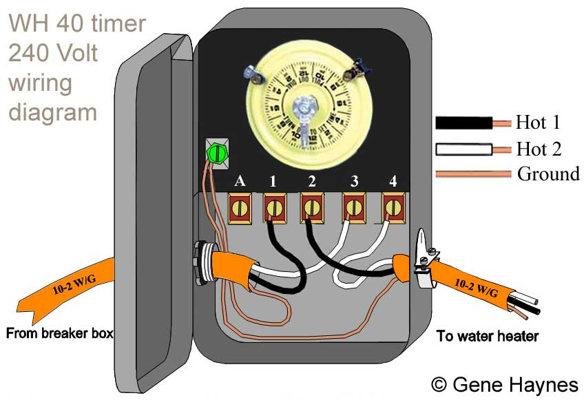 How to wire WH40 water heater timer: Wiring Diagram For Intermatic Timer on intermatic hb800rch outdoor digital timer, wiring diagram for water heater, wiring diagram for pool timer, wiring diagram for defrost timer, wiring diagram for tork timer,