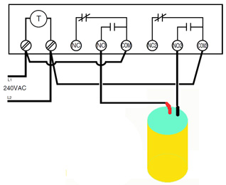 WHW water heater timer wiring