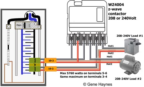 WZ4004 wiring 208 240 2 SPST 2 5 how to wire ca3750 z wave contactor zwave basics pool heat pump wiring diagram at readyjetset.co