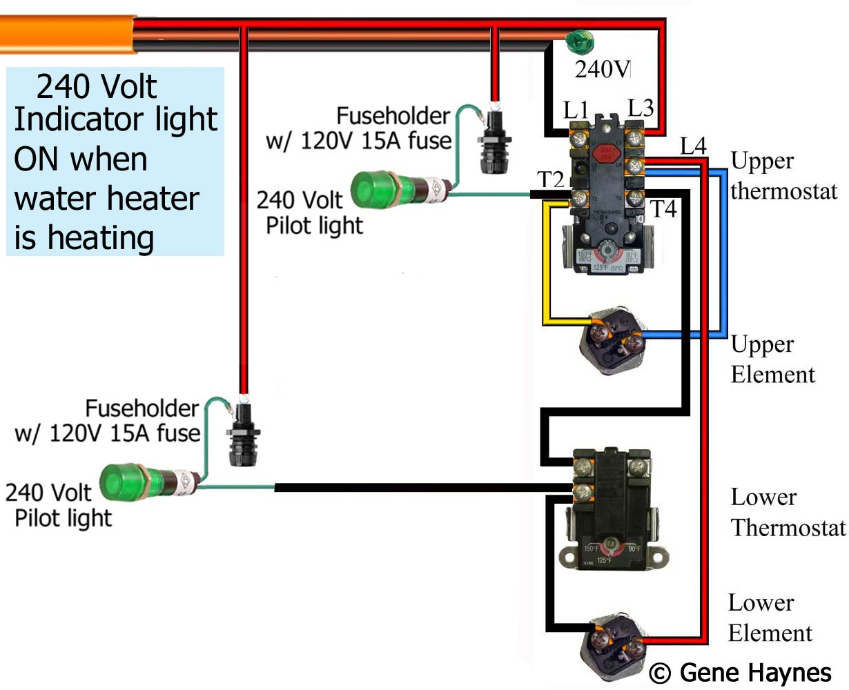 Switch With Pilot Light Wiring Diagram from waterheatertimer.org