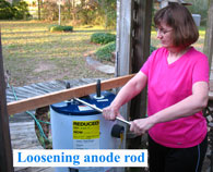 Holly removing anode rod