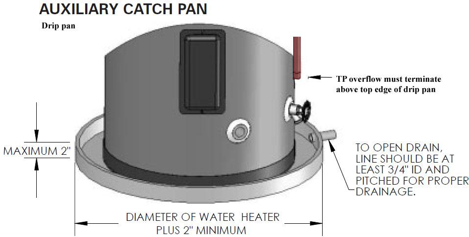 review ge heat pump water heater see drip pan installation · water heater