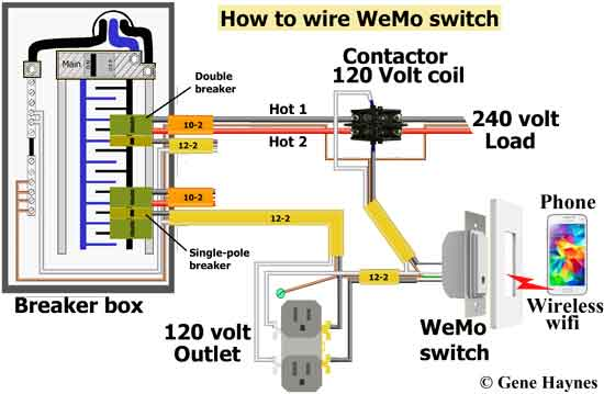 WeMo switch wiring