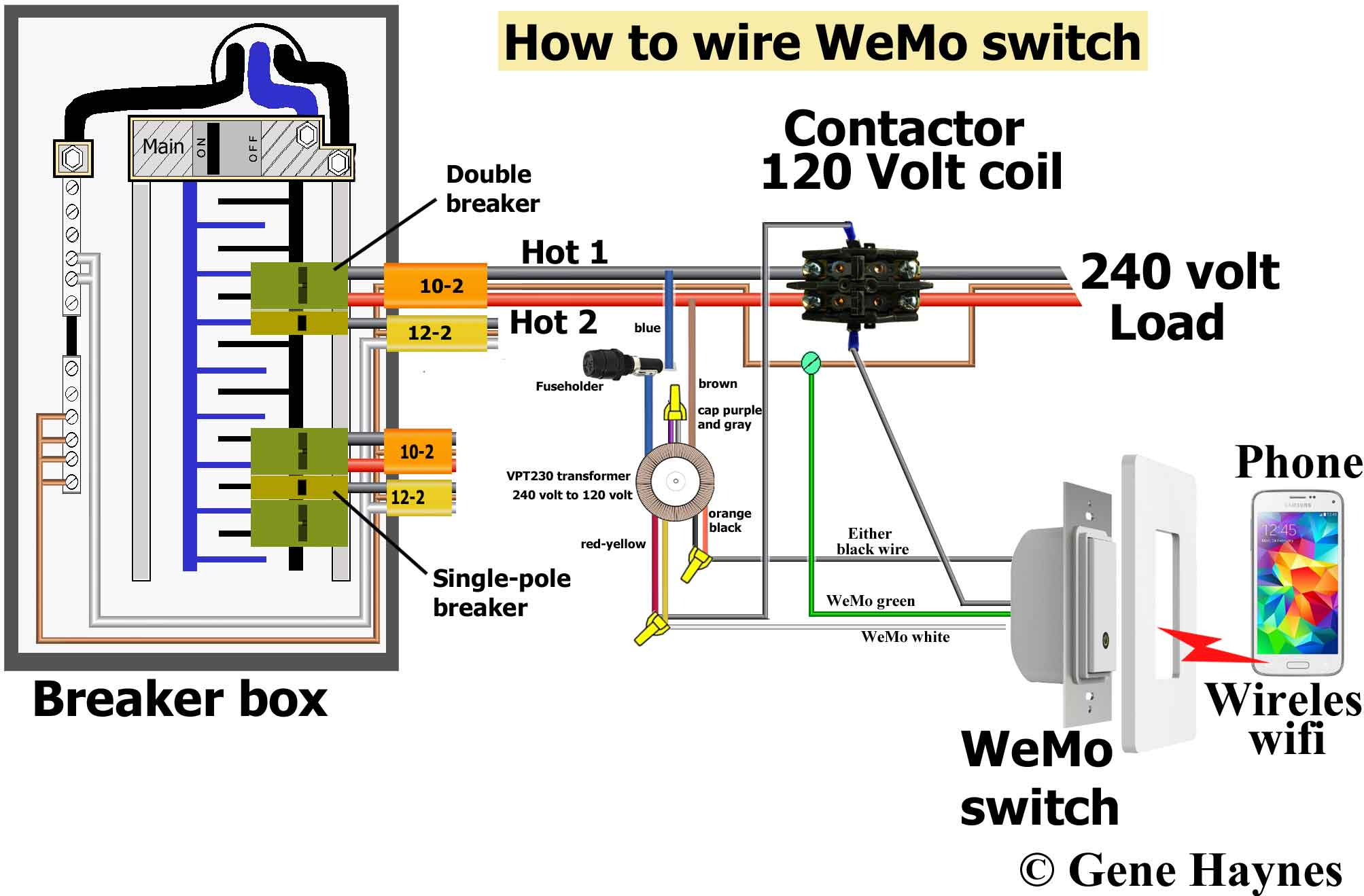 WeMo switch wiring illustration 32a control 240 volt with wemo wire diagram for 240 volt wall heater at bakdesigns.co