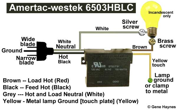 wiring diagram for touch lamp wiring image wiring westek touchtronic 6503h wiring diagram westek automotive wiring on wiring diagram for touch lamp