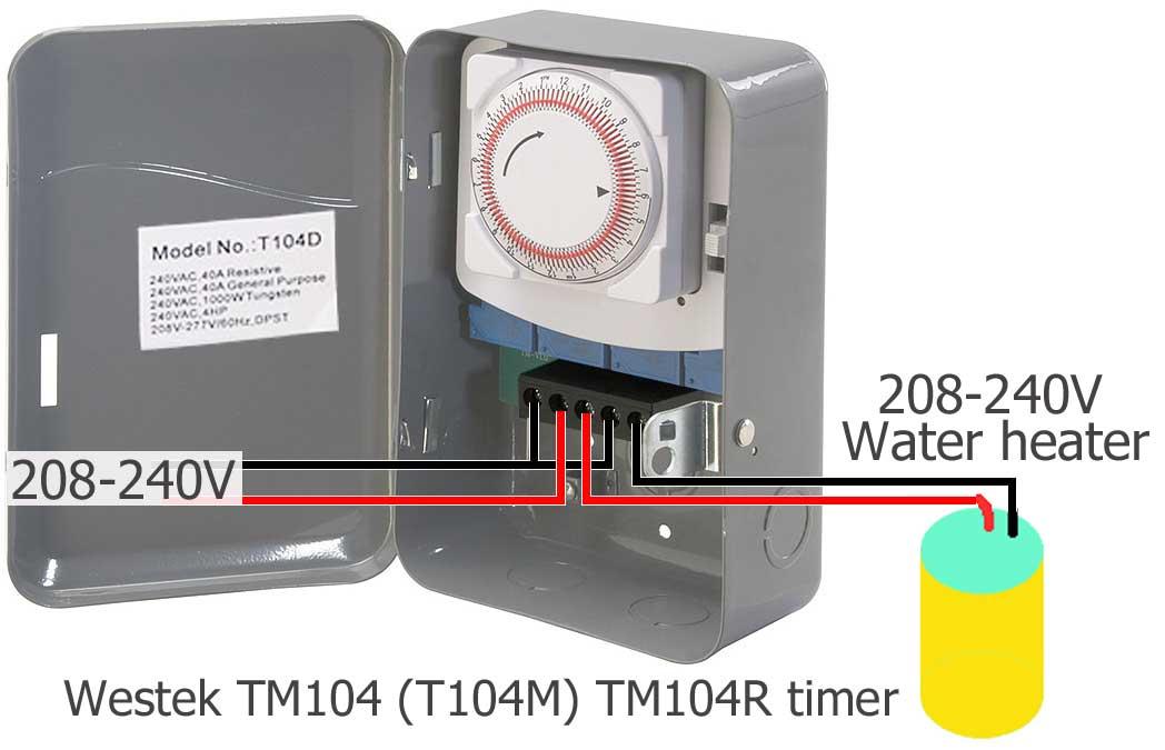 possible wiring for tm104 (t104d)/ spdt 208-240-277volt/ 40 amp