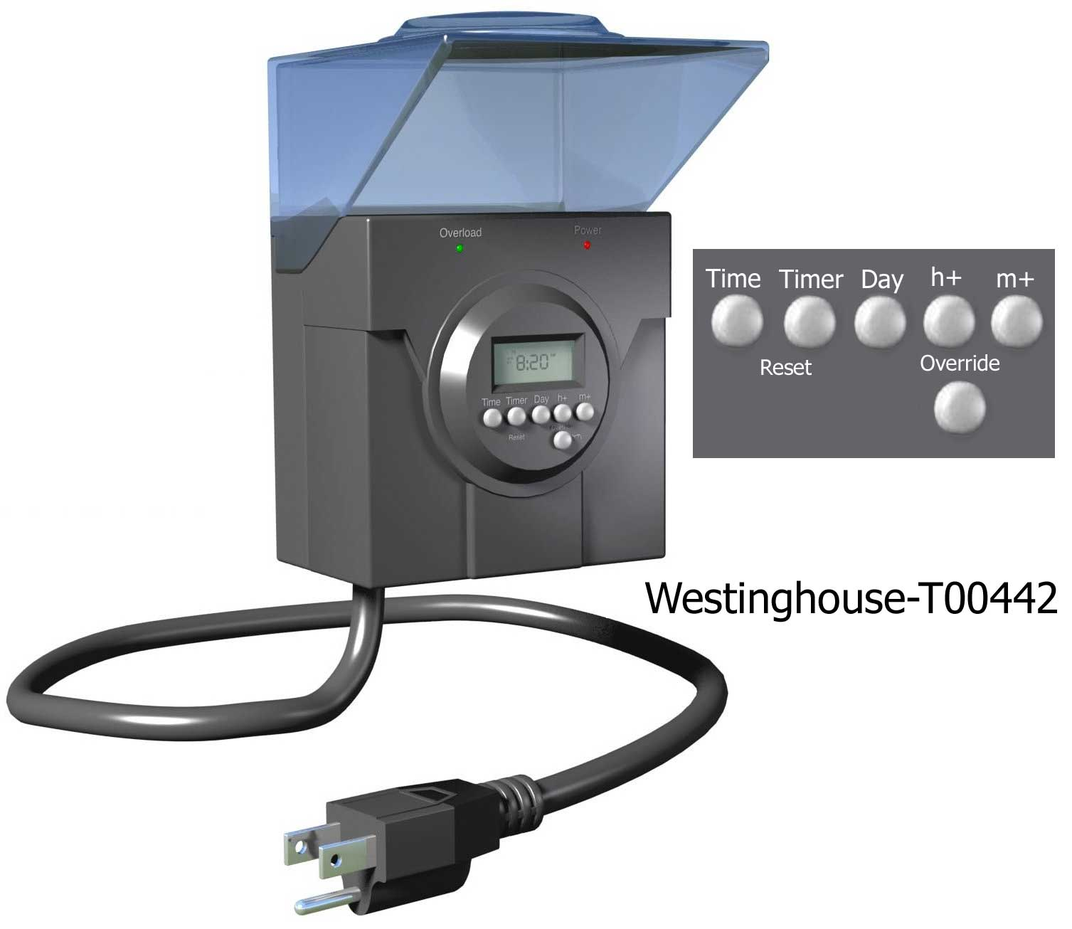 Digital Outdoor Light Timer Westinghouse timers and manuals larger image workwithnaturefo