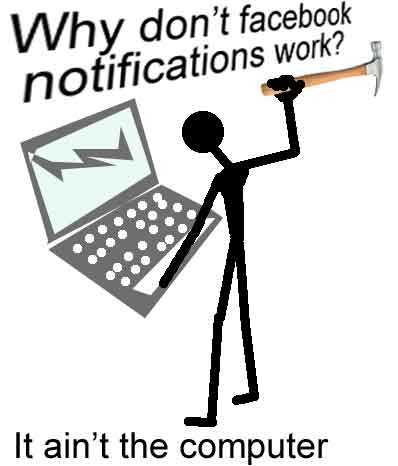 Facebook email notifications do not work