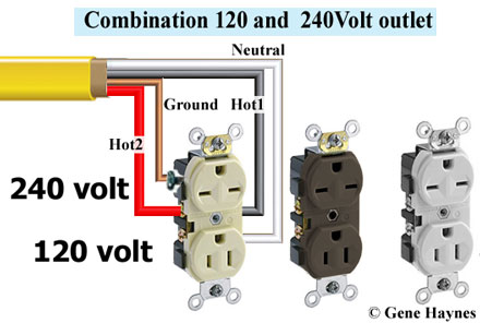 How to wire 240 volt outlets and plugs Wiring V Outlet on